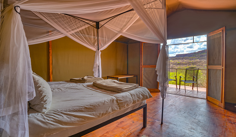 Tented chalet of the Waterberg Valley Lodge